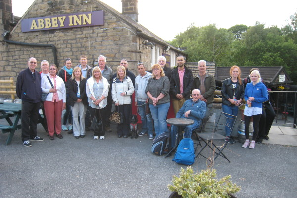 Solstice Walk June 2015 at the Abbey Inn, Newlay...